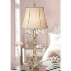 Cottage Style Bedroom Lamps Luxury Duval Cottage Table Lamp Crystal Antique White Candlestick Beige Bell Shade for Living Room Family Bedroom Bedside Barnes and Ivy Chandelier Table Lamp, Antique Chandelier, Table Lamps For Bedroom, Table Lamp Sets, Vintage Table Lamps, Country Lamps, Country Decor, Country Living, Cottage Style Bedrooms