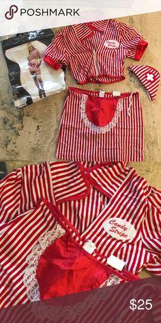 460c6fb4e8 Halloween costume sexy candy stripe nurse