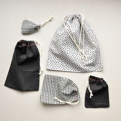 DIY Fabric drawstring Gift Bags
