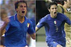 Urlo di Tardelli a Spagna '82 e di Grosso a Germania 2006, simboli dei trionfi azzuri ai Mondiali di Calcio (un po' di Juve!)