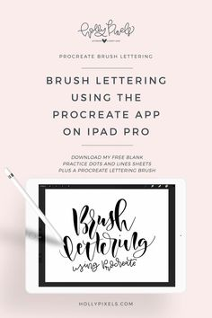 I've had numerous people ask me about how I am using Procreate on iPad Pro to create brush lettering that I do for my Friday Brush Lettering videos. I decided to create a video to the basic gist of how you use it and how the software works. via @hollymccaig Drawing Programs, Brush Lettering, Chalk Lettering, Lettering Design, Lettering Ideas, Ipad Pro, Create Drawing, Lettering Tutorial, Future Shop