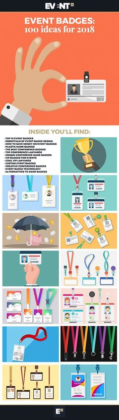 Event Badges: 100 Ideas for 2019 Event badges are the most powerful weapon to connect attendees. Here are 100 conference name badge ideas to connect your attendees better at your event. Event Planning Quotes, Event Planning Checklist, Event Planning Business, Event Ideas, Conference Badges, Name Badges, Event Organization, Event Management, Lanyards