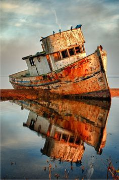 Retired from work .. Love the reflection.