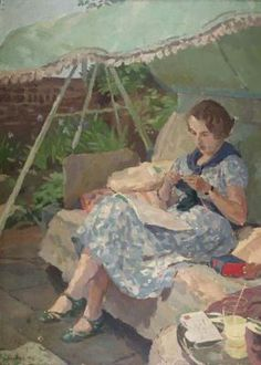 4) Alice Ashby on a green swing seat by Donald Turner 1937