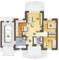 Plano de casa pequeña de 2 habitaciones | Planos y casas