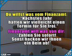 Typisch Finanzamt  Lustige Sprüche Humor #sowahr #Finanzamt #Deutschland #1jux #Jodel #Sprüche #lustigeBilder