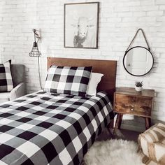 White wood wallpaper bedroom grey Ideas for 2019 Brick Wall Bedroom, Brick Accent Walls, Faux Brick Walls, White Brick Walls, Accent Wall Bedroom, Bedroom Decor, Wood Walls, Fake Brick, Design Bedroom