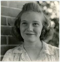1941 PHOTO GA Georgia Macon Smiling Pretty Teen Girl Noel Volk Dimples