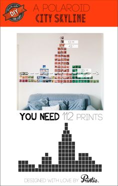 #Printic #DIY : skyline wall #decoration with #polaroids