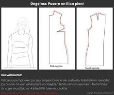 Ohjeita miten muokata kaava juuri sinulle sopivaksi Sewing, Dressmaking, Couture, Stitching, Sew, Costura, Needlework