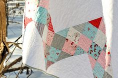 Patchwork Chevron Quilt Tutorial on the Moda Bake Shop. http://www.modabakeshop.com