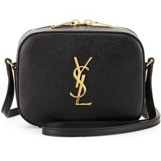 Saint Laurent Monogramme Camera Crossbody Bag ($1,055) ❤ liked on Polyvore