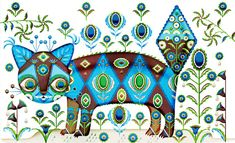 Putte the cat. By Klaus Haapaniemi. The putte foundation. Charity Organizations, Sign Printing, Limited Edition Prints, Cool Cats, Cat Art, Folk Art, Illustration Art, Illustrations, Print Patterns