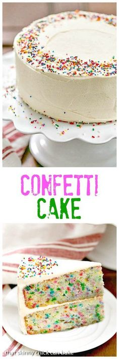 Confetti Cake with loads of festive sprinkles and a scrumptious vanilla malt frosting! #WeekdaySupper #CakeMagic @lizzydo @workmanpub @thewrightcook