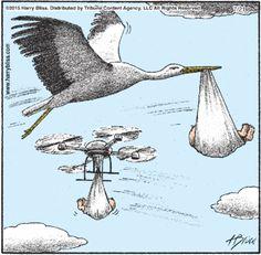 New delivery system #Drones #Humor #Cartoon
