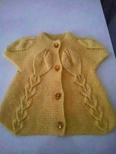 Ideas For Knitting Baby Cardigan Beautiful Baby Knitting Patterns, Baby Girl Patterns, Knitting For Kids, Knitting Designs, Crochet Patterns, Knit Baby Dress, Knitted Baby Cardigan, Knit Baby Sweaters, Knitted Baby Clothes