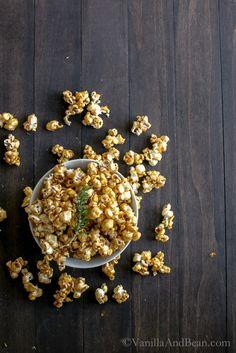 Rosemary-Stout Salted Caramel Popcorn   Vanilla And Bean