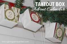 Making a Takeout Box Advent Calendar