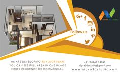 Nipra3DStudio – we are developing 3d floor plan. You can see full area in one image either residence or commercial. To know more please visit our website: -  #3dinterior,#3dexterior,#3dvisulisation,#3dwalkthrough,#3darchitectural,#likeme,#followme,#3drendering,#3ddesign,#virtualreality,#augmentedreality.