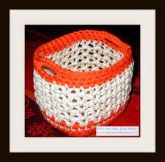Des idées...& des mains !: Petit panier astucieux au crochet