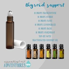 Essential Oils For Thyroid, Myrrh Essential Oil, Essential Oils For Skin, Essential Oil Diffuser Blends, Essential Oils Hypothyroidism, Doterra Essential Oils, Doterra Blends, Doterra Myrrh, Healing Oils