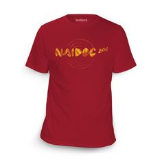 In Honour Cherry Red T-Shirt. Buy Now! http://shop.bundarra.org/products/in-honour-cherry-red-t-shirt-naidoc-week-2014