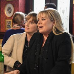 """""""New"""" Michelle Fowler & Sharon Watts Mitchell at the Vic Sharon Mitchell, Tv Soap, Square, Me Tv, Soaps, Bbc, Addiction, British, Relax"""