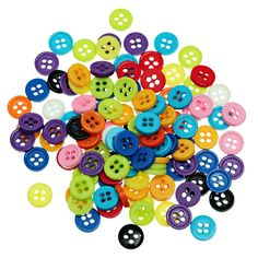 """Resin Sewing Button Scrapbooking Round Mixed 4 Holes 9.0mm( 3/8"""")Dia,55 PCs 2015…"""