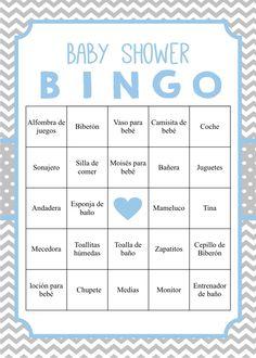 Loteria Para Baby Shower, Bingo Baby Shower, Juegos Baby Shower Niño, Imprimibles Baby Shower, Moldes Para Baby Shower, Baby Shower Invitaciones, Baby Shower Printables, Baby Bingo, Unisex Baby Shower