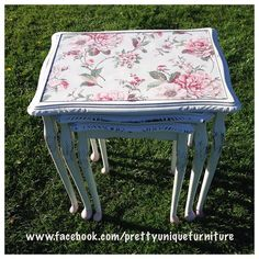 """#ascp #anniesloan #antoinette #blossom #chalkpaint #coffeetable #countryhome #distressed #distressedfurniture #etsy #forsale #handpainted #instahome #loveit #morethanpaint #nestoftables #oldwhite #paintedfurniture #prettyuniquefurniture #refurbished #shabby #shabbychic #table #upcycled #vintage"" Photo taken by @prettyuniquefurniture on Instagram, pinned via the InstaPin iOS App! http://www.instapinapp.com (04/26/2015)"