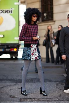 Julia is one of two women who bring PRADA to life.what-do-i-wear:  julia sarr-jamois (image: stockholmstreetstyle)