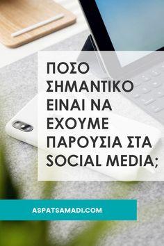 Πόσο σημαντικό είναι να έχουμε παρουσία στα social media; #socialmedia #blogging #blog #aspatsamadi Blogging For Beginners, Earn Money, Social Media, Marketing, Writing, Tips, Youtube, Earning Money, Social Networks