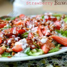 Strawberry Bacon Salad with Greek Yogurt Poppyseed Dressing