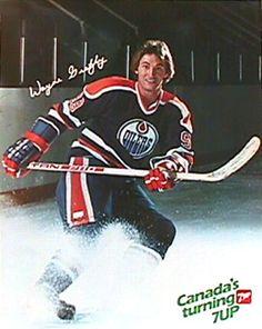Wayne Gretzky Canadas Turning Edmonton Oilers Vintage Poster