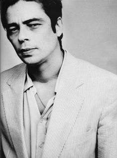 Benicio del Toro - something about him + he's a good actor