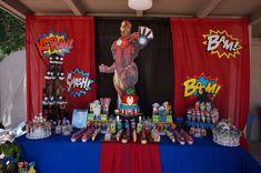Razan K's Birthday / Avengers Theme - Zaydin's Avengers Bash at Catch My Party Birthday Drinks, 9th Birthday Parties, Birthday Party Decorations, 5th Birthday, Birthday Cakes, Iron Man Theme, Iron Man Party, Avengers Birthday, Superhero Birthday Party