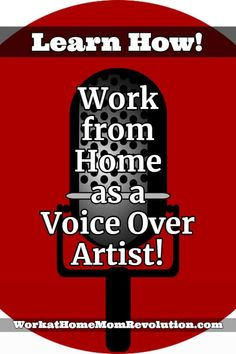 One of the more interesting ways people today are making a living is working from home as a voice over artist! More and more, people just like you and me. Work From Home Moms, Make Money From Home, How To Make Money, Home Websites, Best Online Jobs, Part Time Jobs, Extra Money, Extra Cash, Earn Money Online