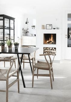 wishbone chair dining seating