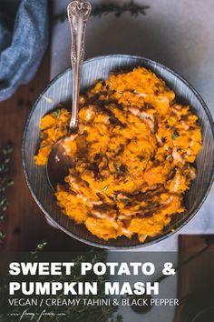 Pumpkin Mash, Best Pumpkin, Vegan Pumpkin, Fall Recipes, My Recipes, Vegan Recipes, Tahini, Mash Recipe, Dinner This Week