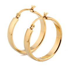 Steel Hoop Earrings - www.junojewels.co