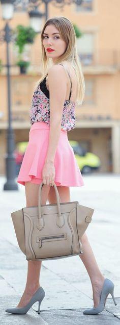 Stradivarius Pink Box Pleated Skort by Personal Style