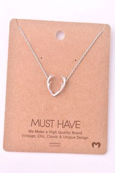 Trophy Wife Necklace. This would be perfect for me since my husband loves to hunt deer! I could tell him that I am his trophy, he doesn't need to hunt anymore lol! #janedivine