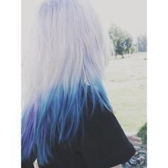 This is really pretty! Especially the white hair