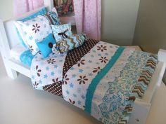 American Girl Doll Bedding  5pc Set  Decorative Pillows by sashali, $26.99