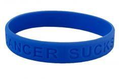 Cancer Sucks Wristband - Colon Cancer (Dark Blue)