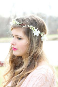 Bridal flower hair, bridal flower crown, wedding headpiece, hair accessories, flower girl