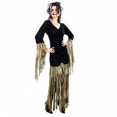 Disfraces Halloween mujer | Disfraz de reina zombie. Contiene vestido largo y tocado para la cabeza. Talla M. 14,95€ #reina #zombie #reinazombie #disfrazreina #disfrazzombie #disfraz #halloween #disfrazhalloween #disfraces