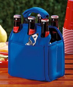 Insulated Six-Pack Bottle Bags, love it! I'm going to get one!