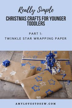 Try out this toddler friendly Christmas craft activity with your little one.  You'll have fun, help their fine motor skills development, and be able to wrap presents in the most fabulous paper! #toddlercraft #toddlerpainting