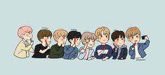 Korean Boy Bands, Nct 127, Nct Dream, Cute Drawings, Boy Groups, Iphone Wallpaper, Chibi, Idol, Doodles